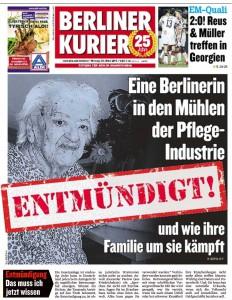 Entmuendigt - Berliner Kurier Titelblatt gross